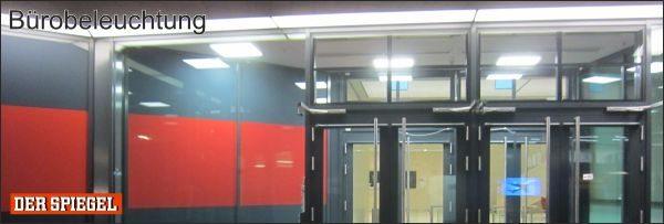 Referenzbild DER SPIEGEL: LED Bürobeleuchtung mit der Marke Leuchtfeuer des Herstellers Lehner Dabitros