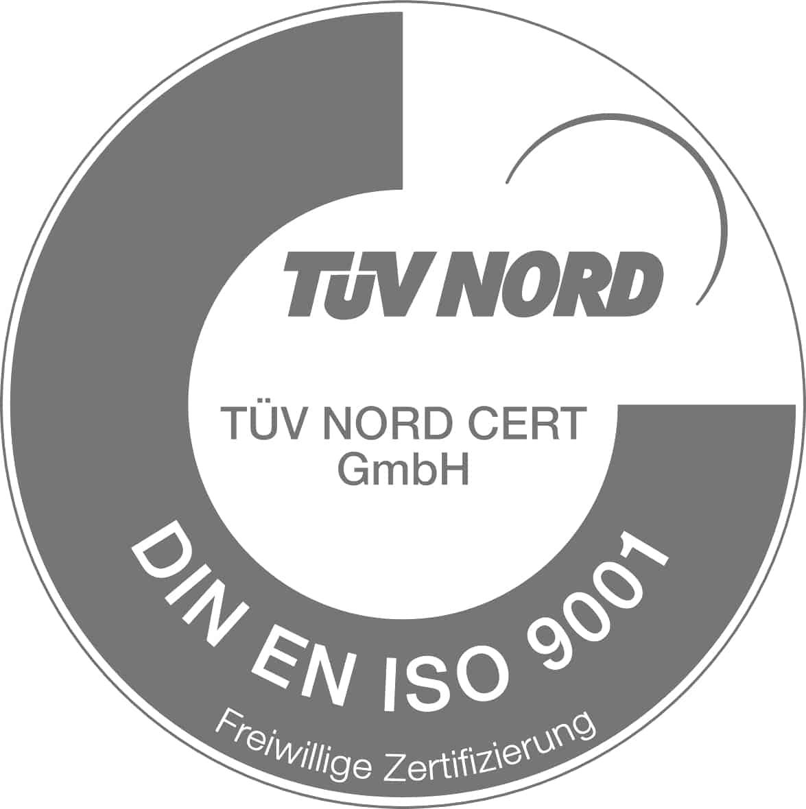 Logo ISO9001 Zertifizierung TÜV Nord
