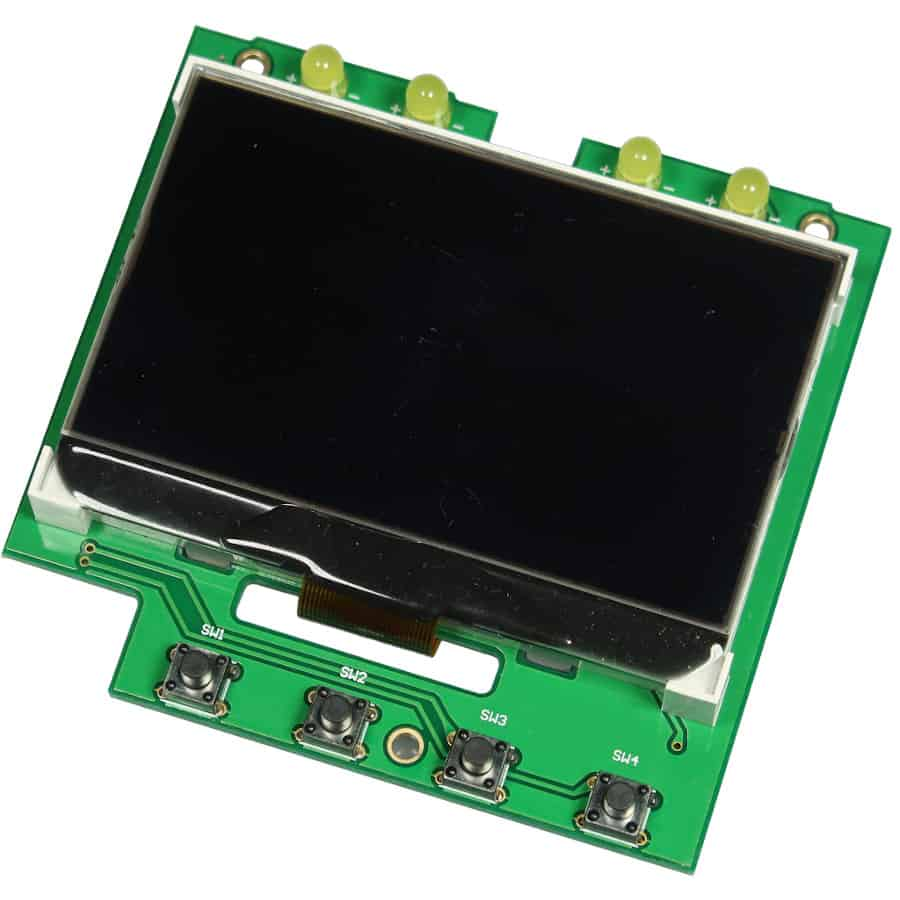 Kundenspezifisches Glas für LCD Module der Marke andi hergestellt von Lehner Dabitros / YL#