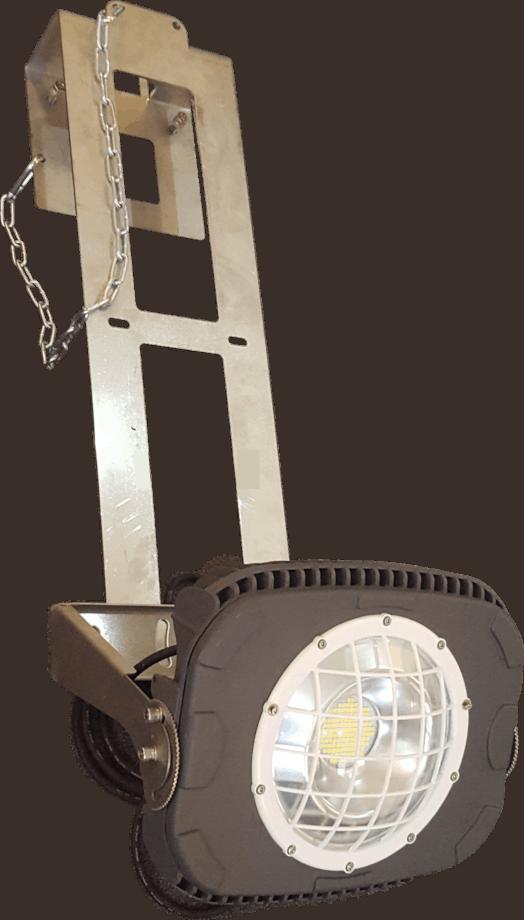 Okka Flex am Kranhalter der Marke Leuchtfeuer von Lehner Dabitros